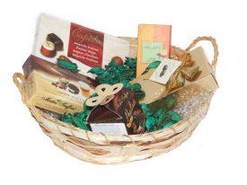 סלסלה משולבת במארזי שוקולד בלגי