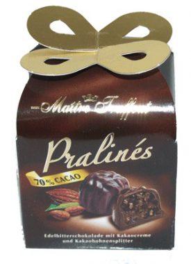 שוקולד מיני פרלין 70 קקאו עם קרם פרלין