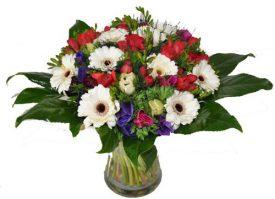זר פרחים בניחוח חורפי