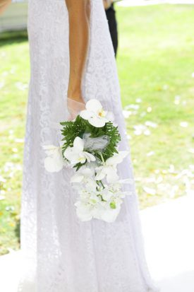 bridal bouquet from orchid flowers