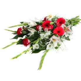 זר פרחים מאורך חזיתי