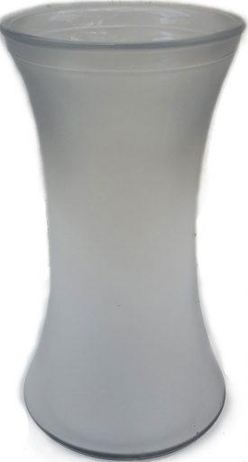 אגרטל זכוכית לבן חלבי