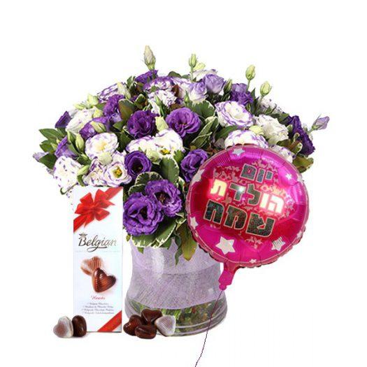 דיל סגול לבן - שדה פרחים משלוחי פרחים בחדרה, פרדס חנה, בנימינה, זכרון יעקב