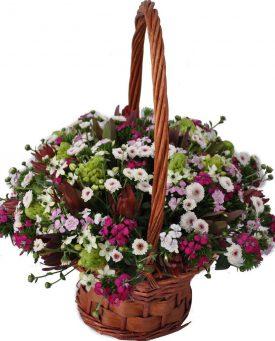 סידור פרחים כפרי
