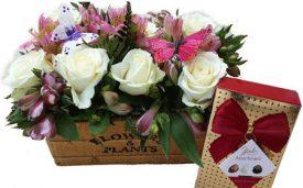 אדנית פרחים ושוקולד