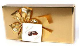 פרליני שוקולד בלגי מסוג המלט כתוספת למשלוח פרחים