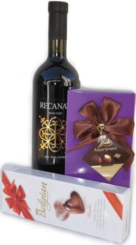 שוקולדים ויין