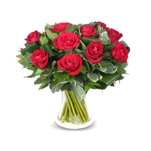 זר ורדים אדומים - שדה פרחים משלוחי פרחים