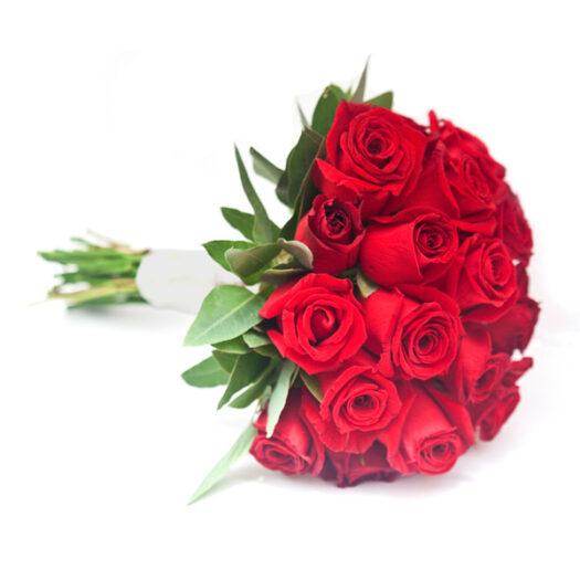 זר כלה וורדים אדומים - שדה פרחים עיצוב זר כלה מדהימים
