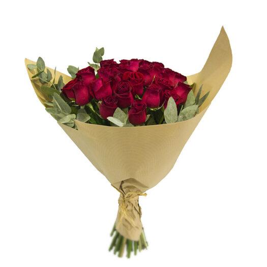 למבדה - זר ורדים בצבע בורדו