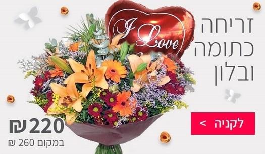 זריחה כתומה - שדה פרחים